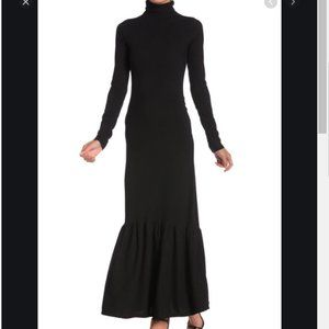 GO COUTURE Long Sleeve Turtleneck Maxi Dress
